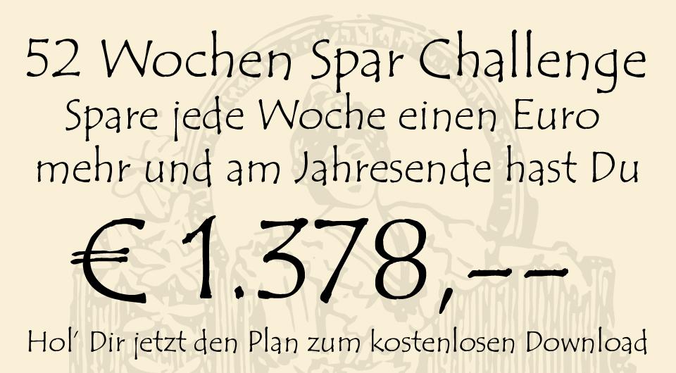 52 Wochen Spar Challenge