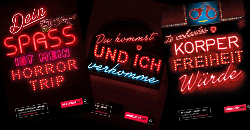 #rotlichtaus Kampagne Plakate
