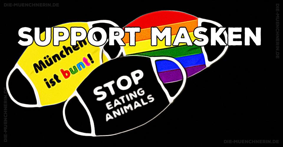 Support Masken - Mundnasenmasken mit Statement zur gegenseitigen Unterstützung