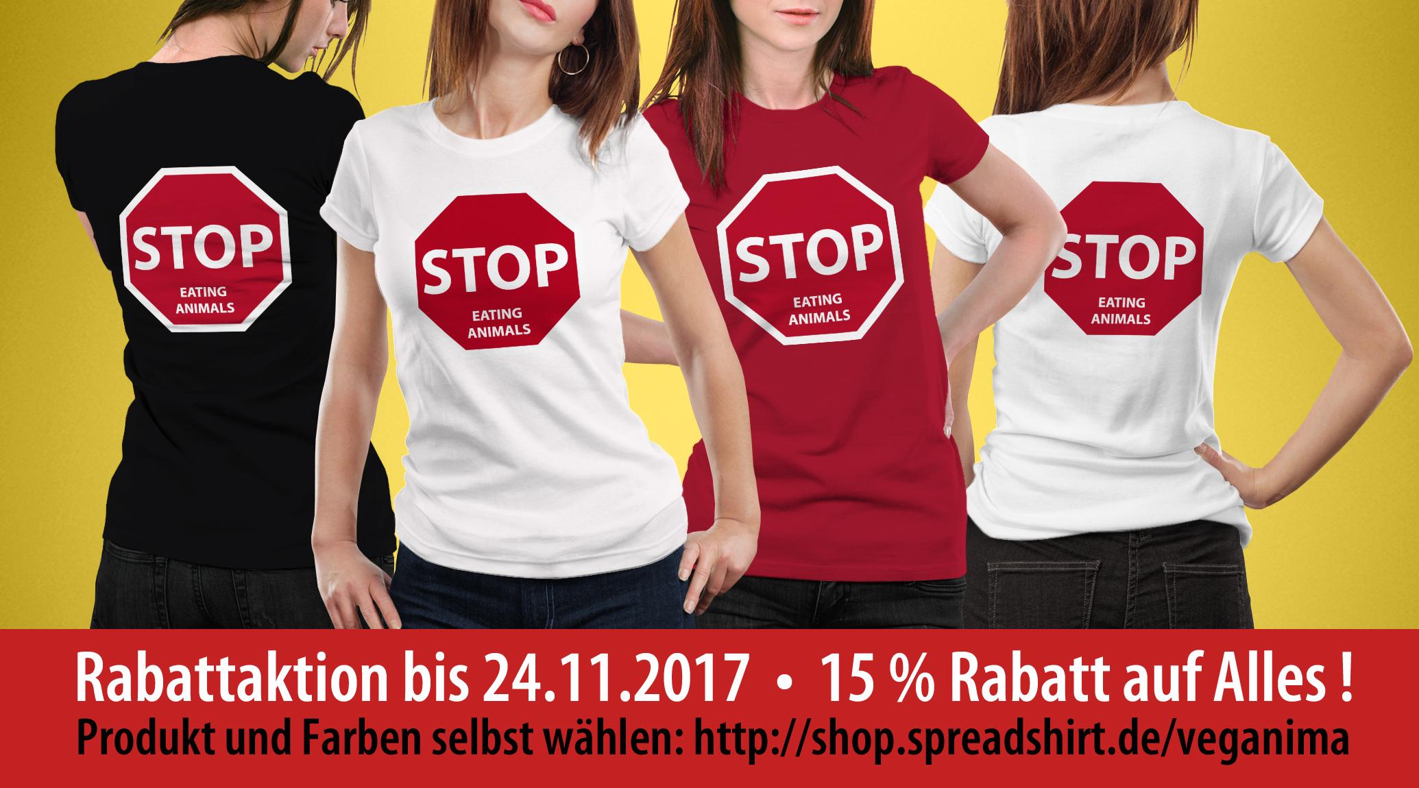 Rabattaktion - Vegane Shirts - Veganima