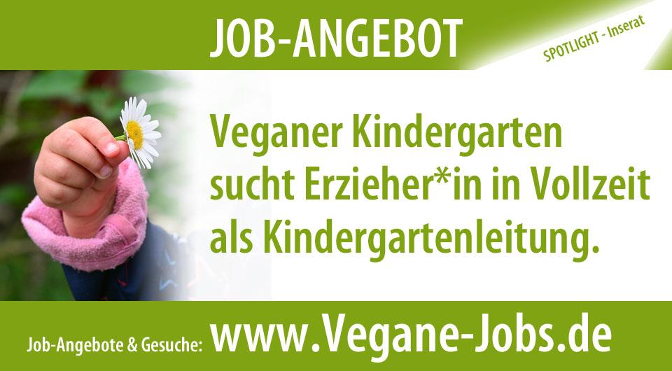 Vegane Jobs: Münchens erster veganer Kindergarten ERDLINGE e.V. sucht eine*n Erzieher*in in Vollzeit als Kindergartenleitung.