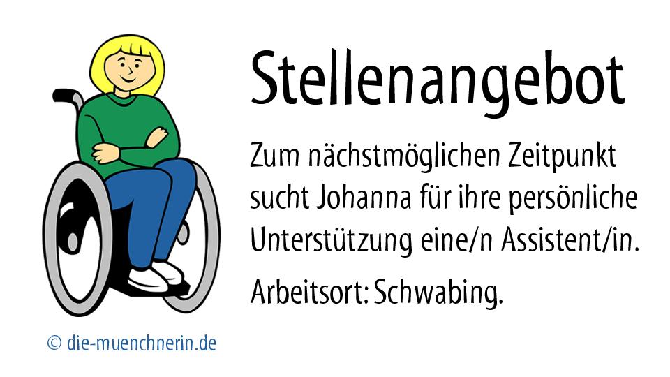 Stellenangebot Behindertenassistenz München Schwabing - www.die-muenchnerin.de