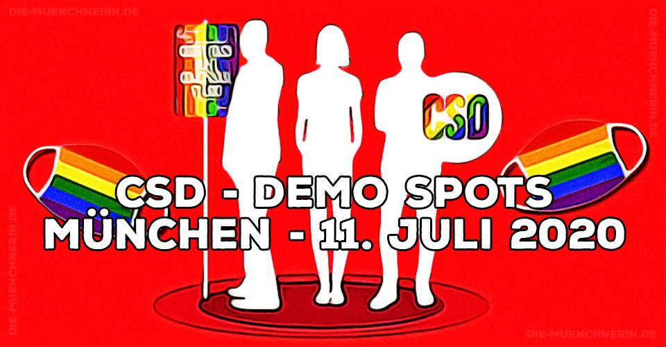 CSD Demo Spots München 11.7.2020