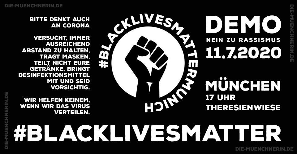 #BlackLivesMatter Demo München