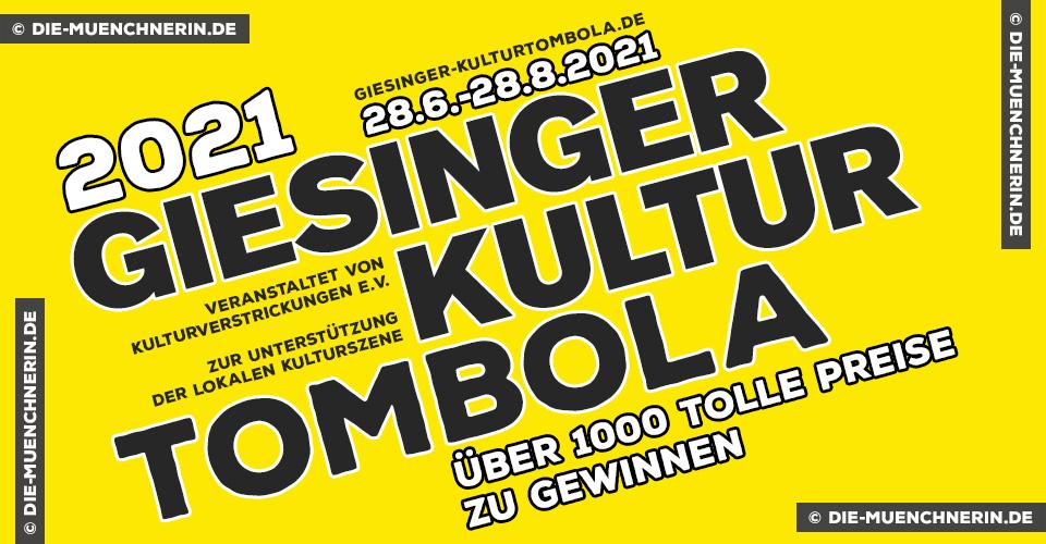 Giesinger Kulturtombola zugunsten der lokalen Kulturschaffenden