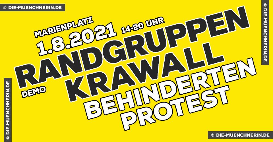 Randgruppenkrawall Behindertenprotest Demo