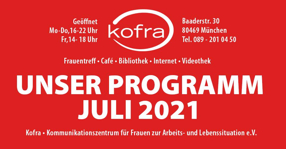 Kofra Termine Juli 2021